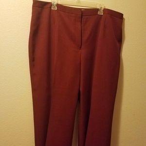 Jones Studio Separates Burgundy Pants 22W